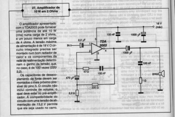 amplificador de 10 w em 2homs