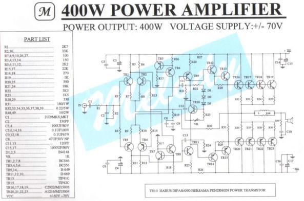 amplificador de 400w