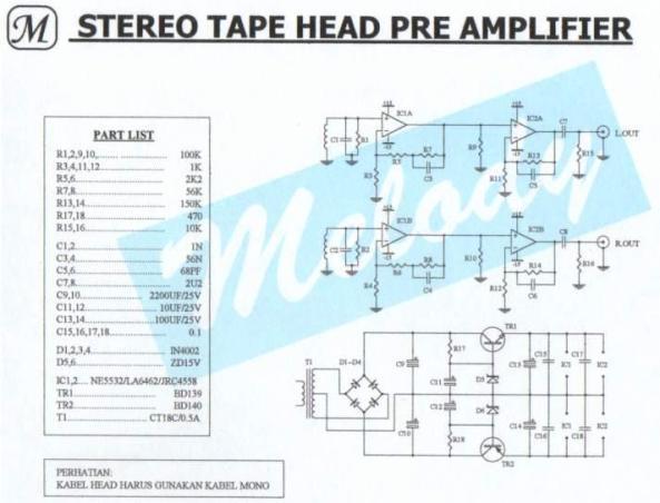 amplificador pre-amplificador stereo